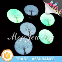 Creative UV Digital Printing Tree of Life Pattern Glow In The Dark Cheap Silver Charms