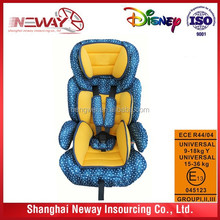 ECE R44/04 approved Europe standard 9-36KG baby car seat with competitive price