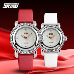 2015 30M water resistant quartz leather lady brand watch promotional product