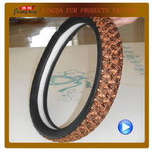 Ice silk emboss leather steeering wheel cover