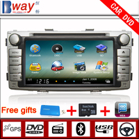 Bway In Dash 2 din Car video player for 2012 TOYOTA Hilux CAR DVD with GPS Navigation car Radio Bluetooth