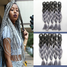 2 tone /3 tone/4 tone colored jumbo braid ,kanekalon jumbo braid,ombre kanekalon jumbo braid synthetic hair for black women
