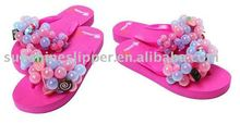 high quality eva platform fashion bubble flip flop grape slipper