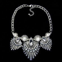 European and American crystal gemstone necklace fashion jewelery