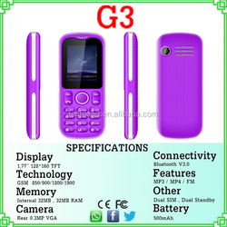 Small size super slim mobile phone G3 Made in China factory