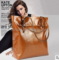 Fashion wholesale cheap shopping bag genuine leather for ladies women hand bags