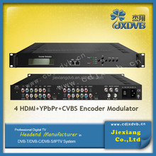 30~960MHz DVB T modulator MPEG4/AVC H.264 encoding convert HD A/V signals