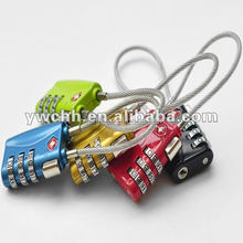 Wire cable lock TSA combination cable lock for luggage