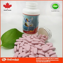 oem factory supplement calcium and vitamin d tablets