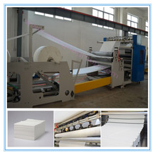 Wallboard structure!! 4000sheets/mins 4 lines face tissue make machine, Paper tissue converting equipment