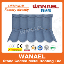 Wanael best metal roof/colorful anti-UV Stone chips coated roof tile/types of roof covering sheets