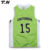 new style custom basketball jersey green color design