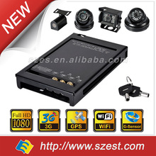 4CH Real-time Security H.264 DVR Mobile 3G SD CAR Video Recording Free system
