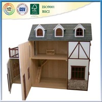 Russian prefabricated house wooden pretend play house toys