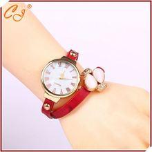 Mais recente relógio de pulso estoque pulseira relógio de aço inoxidável voltar resistente à água
