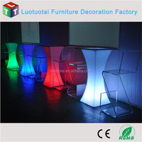 remote control battery operated 16 color change square led cocktail table