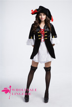 pirates of the caribbean retro cosplay costume for women