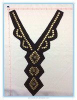 2015 JND High Quality Fashion Flat Metal Beads Mix Bugle Beads Beaded Collar Sew-on For Clothes