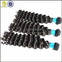 Factory Wholesale human virgin remy hair No chemical process deep wave brazilian virgin hair