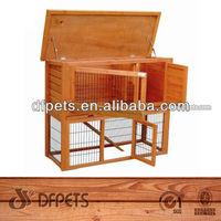 Wooden Rabbit Hutch With Big Run DFR042