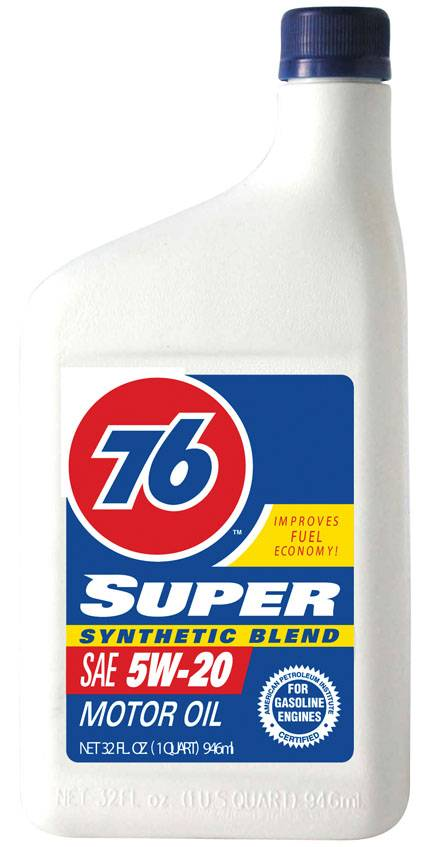 76 super synthetic blend motor oil