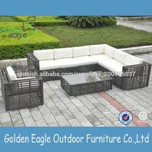 muebles al aire libre muebles de ratán sintético barato sofá de jardín conjunto