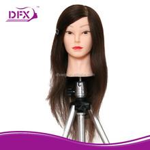 "wholesale alibab beauty male/female face human hair mannequin head/training head 18"""
