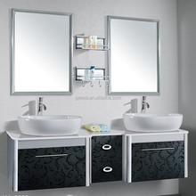 Classical Double Sinks Bathroom Cabinet