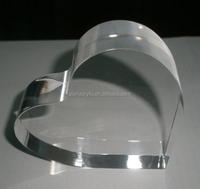 Heart shaped acrylic photo block frameless heart acrylic frame cake topper