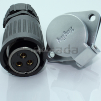 35 Amp 3 4 Pin Waterproof Power Connector for Electrical Motor