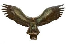 Casting bronze metal spread wings eagle sculpture