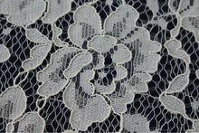 Cotton white peony pattern lace fabric for embroidery(119)