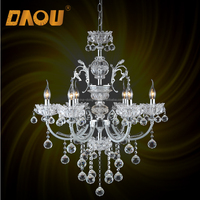 New style crystal arm odeon glass fringe copper beaded chandelier in stock