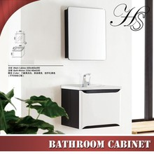 HS-CE338 modern wall hung black and white meuble salle de bain bathroom cabinet