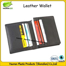 Real cow Leather wallet with coin purse