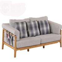 01SF01-3 Bamboo frame sofa set with fabric sectional sofa cushion