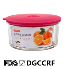New arrival silicone & glass food storages container fresh keeping box silicone lunch box