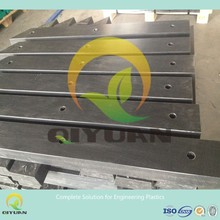 High wear & chemical resistant plastic panel/ uhmwpe dock bumper pad
