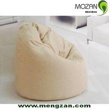 white teardrop canvas round beanbag sofa