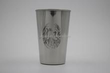 16OZ stainless steel mug can via the logo single wall mug adversing mug