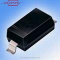1a 30v de plástico encapsular diodos de barrera schottky b5818w