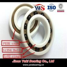 hybrid ceramic ball bearing ZrO2 rings Si3N4 balls bearing