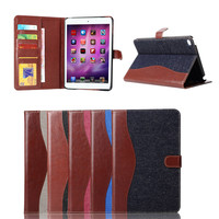 For ipad mini 4 PU leather folio smart case stand cover China supplier, for iPad Mini 4 wallet case protective case