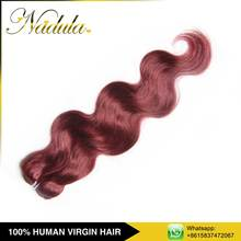Top Selling Products 2015 Pure Pussy Red Color Human Hair Weav