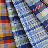 Fashion fabric polyester cotton yarn dyed fabric woven check stripe fabric for shirts