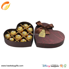 Special paper heart shaped chocolate paper box packaging