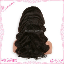Grade AAAAA Body Wave Brazilian Virgin Hair Full Lace Wig Natural Color Full Lace Human Hair Wig For Black Women