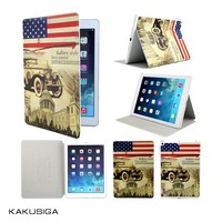 H&H hot sale USA flag leather case for ipad 2,3,4,5