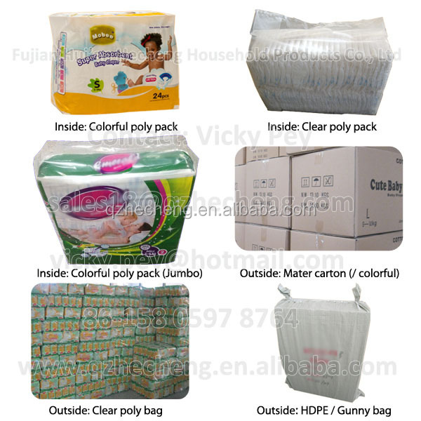 Clothlike breathable Disposable Sleepy baby diaper