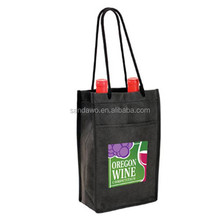 Casting Promotional Printed wine tote bag